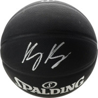 KYLE KUZMA Autographed Los Angeles Lakers Black Spalding Basketball FANATICS
