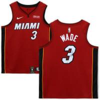 DWYANE WADE Autographed Miami Heat Red Swingman Jersey FANATICS