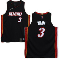 "DWYANE WADE Autographed ""06 Finals MVP"" Miami Heat Black Nike Authentic Jersey FANATICS"