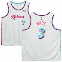 DWYANE WADE Autographed Miami Heat White Vice Nike Swingman Jersey FANATICS