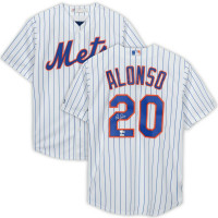 PETE ALONSO Autographed New York Mets White Majestic Replica Jersey FANATICS