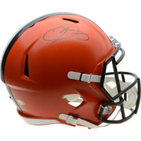 ODELL BECKHAM Jr. Autographed Cleveland Browns Full Size Replica Speed Helmet FANATICS