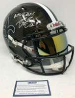 "DREW BREES Autographed ""Who Dat!"" New Orleans Saints Authentic Riddell Speed Hydro Dipped Helmet STEINER"