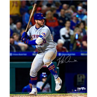 "PETE ALONSO Autographed New York Mets ""Hitting"" 16"" x 20"" Photograph FANATICS"
