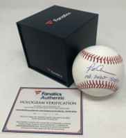 """PETE ALONSO Autographed New York Mets """"MLB Debut 3/28/19"""" Official Baseball FANATICS"""