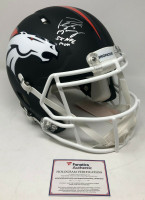 "PEYTON MANNING Autographed / Inscribed ""5x NFL MVP"" Denver Broncos Speed Authentic Black Matte Helmet - Limited Edition 1 of 18 - Fanatics"