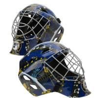 JORDAN BINNINGTON Autographed St. Louis Blues Replica Goalie Mask FANATICS