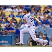 "CODY BELLINGER Autographed Los Angeles Dodgers 16 x 20 ""Slugging"" Photograph FANATICS"