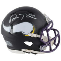 ADAM THIELEN Autographed Minnesota Vikings Black Matte Mini Helmet - FANATICS