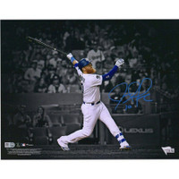 "JUSTIN TURNER Autographed Los Angeles Dodgers 11"" x 14"" Spotlight Photograph FANATICS"