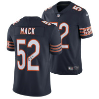 KHALIL MACK Autographed Chicago Bears Nike Navy Limited Jersey - FANATICS