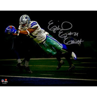 "EZEKIEL ELLIOTT Autographed Dallas Cowboys 11"" x 14"" Diving Touchdown Spotlight Photograph - FANATICS"