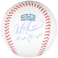 "STEVE PEARCE Autographed / Inscribed Boston Red Sox ""18 WS Champs"" Official 2018 World Series Baseball FANATICS"