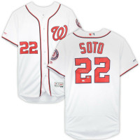 JUAN SOTO Autographed Washington Nationals Authentic White Jersey FANATICS