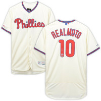 J.T. REALMUTO Autographed Philadelphia Phillies Authentic Cream Jersey FANATICS