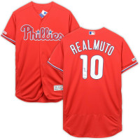 J.T. REALMUTO Autographed Philadelphia Phillies Authentic Scarlet Red Jersey FANATICS