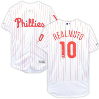 J.T. REALMUTO Autographed Philadelphia Phillies Authentic White Jersey FANATICS