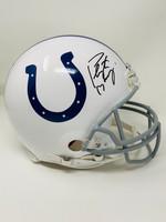 PEYTON MANNING Autographed Indianapolis Colts Authentic Proline Helmet FANATICS