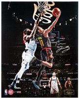 "TRAE YOUNG Autographed Atlanta Hawks ""Reverse"" 16"" x 20"" Photograph PANINI Limited Edition of 111"