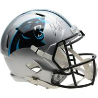 CHRISTIAN McCAFFREY Autographed Carolina Panthers Speed Helmet FANATICS
