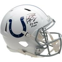"PEYTON MANNING Autographed Indianapolis Colts ""5x NFL MVP"" Speed Helmet FANATICS"