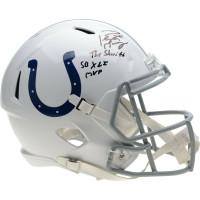 "PEYTON MANNING Autographed Colts ""Sheriff"" & ""SB XLI MVP"" Speed Helmet FANATICS"