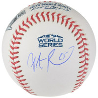 STEVE PEARCE Autographed Boston Red Sox World Series Logo Baseball FANATICS