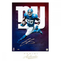 "SAQUON BARKLEY Autographed New York Giants ""NY"" 18 x 24 Photograph PANINI - Limited Edition of 126"