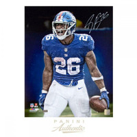 "SAQUON BARKLEY Autographed New York Giants ""Intensity"" 16 x 20 Photograph PANINI LE 126"