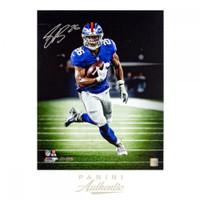 "SAQUON BARKLEY Autographed New York Giants ""Sideline"" 16 x 20 Photograph PANINI LE 126"
