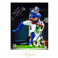 "SAQUON BARKLEY Autographed New York Giants ""Breakaway"" 16 x 20 Photograph PANINI LE 126"