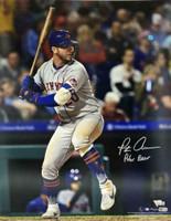 "PETE ALONSO Autographed New York Mets 16 x 20 ""Polar Bear"" Photograph FANATICS"