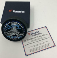 """JORDAN BINNINGTON Autographed St. Louis Blues """"19 SC Champs"""" Official Puck FANATICS"""