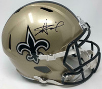 ALVIN KAMARA Autographed New Orleans Saints Full Size Speed Helmet FANATICS
