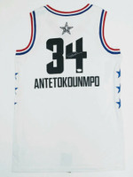 GIANNIS ANTETOKOUNMPO Autographed Milwaukee Bucks 2019 All Star Jersey FANATICS