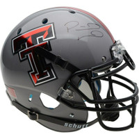 PATRICK MAHOMES Autographed Texas Tech Grey Authentic Helmet FANATICS