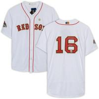 "ANDREW BENINTENDI Signed Boston Red Sox ""18 WS Champs"" Gold Program Authentic Jersey FANATICS"