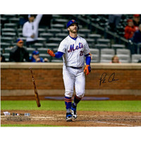 "PETE ALONSO Autographed New York Mets 16 x 20 ""Bat Drop"" Photograph FANATICS"