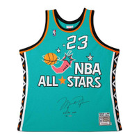 MICHAEL JORDAN Autographed 1996 NBA All Star M&N Authentic Jersey UDA LE 96