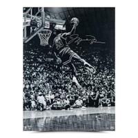 "MICHAEL JORDAN Autographed Chicago Bulls ""Frozen In Time"" 30 x 40 Photograph UDA"