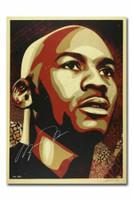"""MICHAEL JORDAN / Shepard Fairey Autographed Hall of Fame 24"""" x 36"""" Portrait UDA LE 50"""