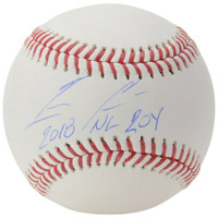 "RONALD ACUNA Jr. Autographed Atlanta Braves ""18 NL ROY"" Baseball FANATICS"