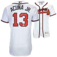 RONALD ACUNA Jr. Autographed Atlanta Braves Authentic Jersey FANATICS