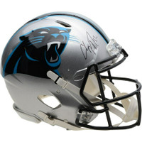 CHRISTIAN McCAFFREY Autographed Carolina Panthers Speed Authentic Helmet FANATICS
