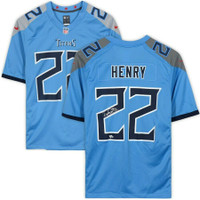 DERRICK HENRY Autographed Tennessee Titans Nike Blue Game Jersey FANATICS