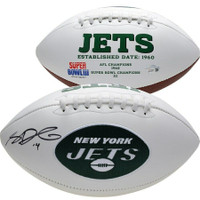SAM DARNOLD Autographed New York Jets White Panel Football FANATICS