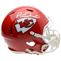 PATRICK MAHOMES Autographed Kansas City Chiefs Speed Helmet FANATICS