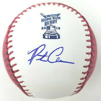 PETE ALONSO New York Mets Autographed 2019 Home Run Derby Pink Money Baseball FANATICS