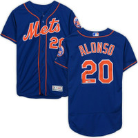 PETE ALONSO Autographed New York Mets Blue Authentic Flexbase Jersey FANATICS