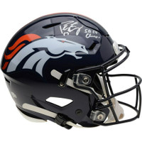 "PEYTON MANNING Autographed and Inscribed ""SB 50 Champs"" Denver Broncos Speed Flex Helmet FANATICS"